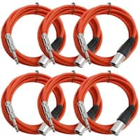 "Seismic Audio SEISMIC 6 PACK Red 1/4"" TRS - XLR Male 10' Patch Cables"