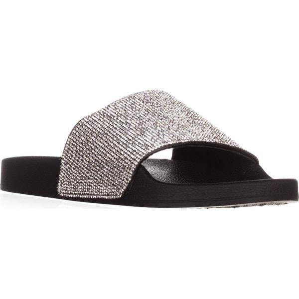 madden girl Fancy Slide Sandals, Black