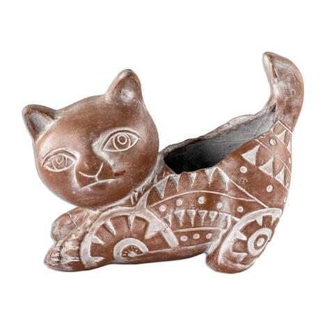 Ceramic flower pot, 'Talavera Delight'
