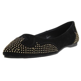 Rebels Womens Roxy Ballet Flats Velveteen Studded