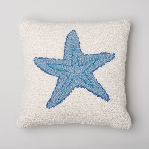 Starfish Wool Hooked Pillow
