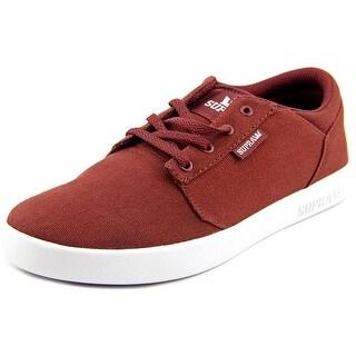 Supra Yorek Low Boy Burgundy-WHT Athletic Shoes