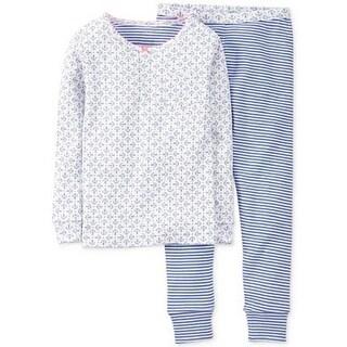 Carter's Little Girls' 2 Piece Anchor Print Pants Pajama Set