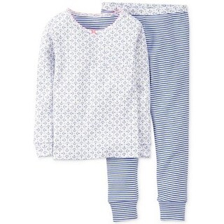 Carter's Little Girls' 2 Piece Anchor Print Pants Pajama Set
