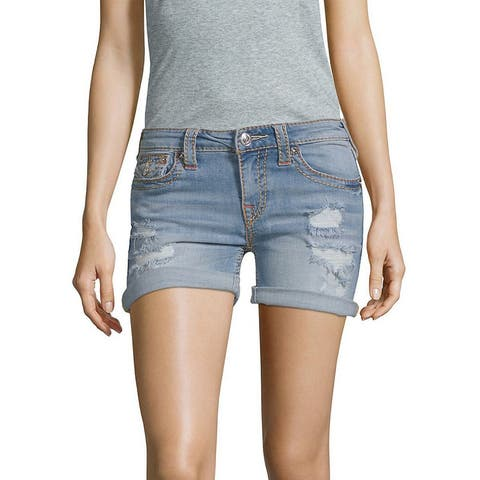 True Religion Blue Curvy Short