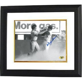 Bud Harrelson signed New York Mets 8x10 Black & White Photo Custom Framed 1973 NLCS Fight vs Pete Rose