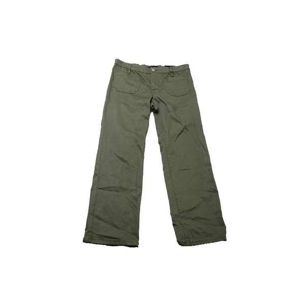 Sanctuary Green Cropped Flared Jeans