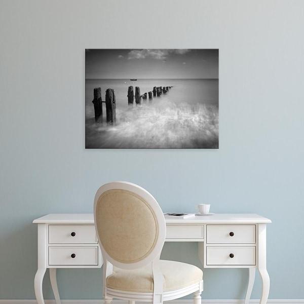 Easy Art Prints 's 'Monochrome Beach' Premium Canvas Art