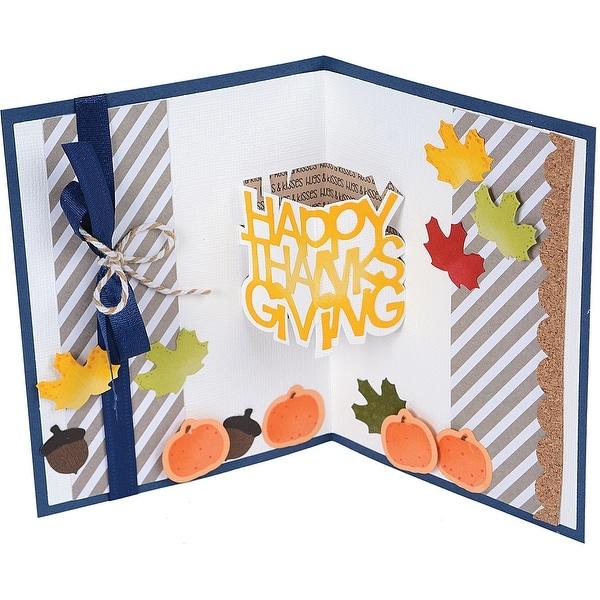 Sizzix Thinlits Dies By Stephanie Barnard 6/Pkg-Happy Thanksgiving 3-D Drop-Ins