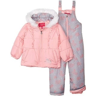 London Fog Girls 12-24 Months Ruffled Star Snowsuit - 12 Months