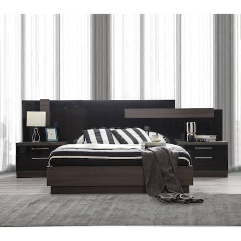 Napoli Modern Platform Bed Glossy Finish