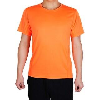 Men Short Sleeve Clothes Casual Wear Tee Cycling Biking Sports T-shirt Orange M