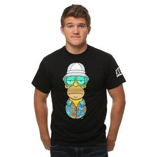 Simpsons Homer S Thompson Mens Black T-Shirt