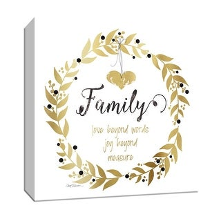 "PTM Images 9-147185  PTM Canvas Collection 12"" x 12"" - ""Golden Family"" Giclee Sayings & Quotes Art Print on Canvas"