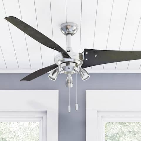 Honeywell Phelix Brushed Nickel 3 Blade Contemporary Ceiling Fan - 56-inch
