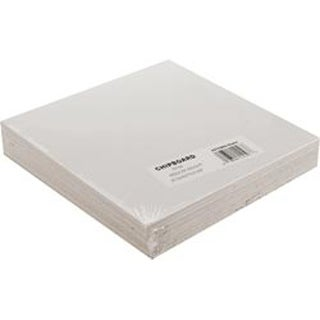 "White - Medium Weight Chipboard Sheets 6""X6"" 25/Pkg"