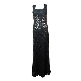 Lauren Ralph Lauren Women\u0027s Mesh Sequined Lace Gown - Grey