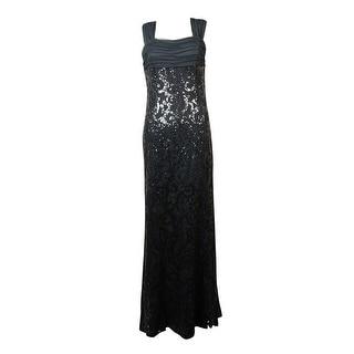 Lauren Ralph Lauren Women\u0027s Mesh Sequined Lace Gown - Grey (2 options  available)