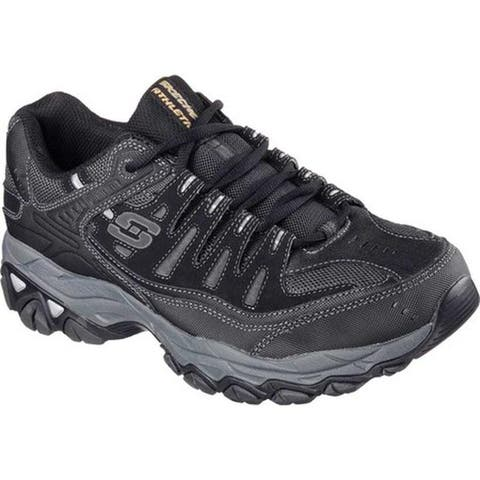 Skechers Men's After Burn Memory Fit Cross Training Shoe Black/Gray