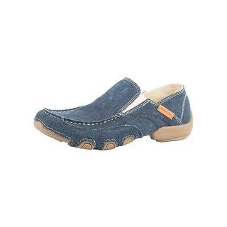 Roper Western Shoes Mens Canvas Dougie 11.5 D Blue 09-020-1776-0141 BU