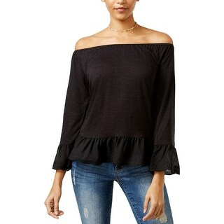 Sanctuary Womens Juliette Blouse Off-The-Shoulder Bell Sleeves