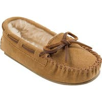 Minnetonka Girls' Cassie Slipper Cinnamon Suede