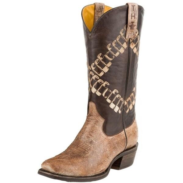 Tin Haul Western Boots Mens Bullet Bandolero Brown