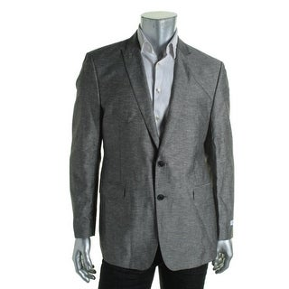 Calvin Klein Mens Linen Marled Two-Button Suit Jacket - 38R