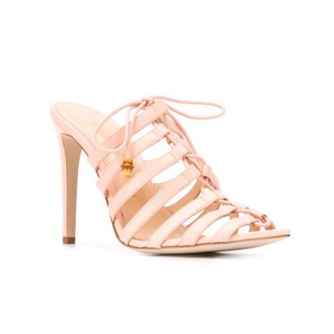Chloe Gosselin Women's Leather Kristen 100 Sandals Shell Pink