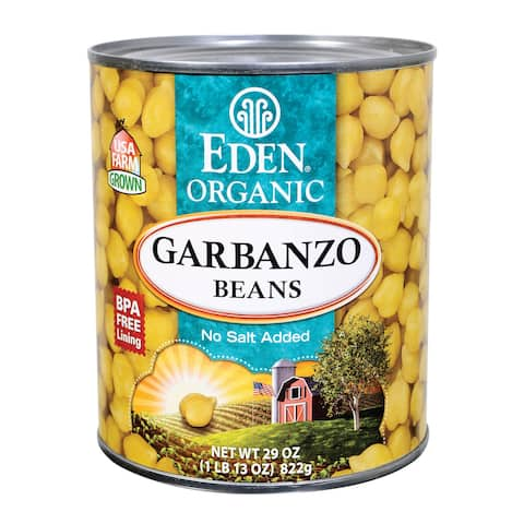 Eden Foods Organic Garbanzo Beans - Case of 12 - 29 oz.
