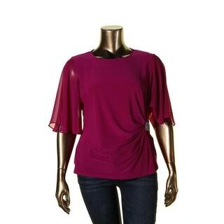 MSK Womens Blouse Matte Jersey Embellished
