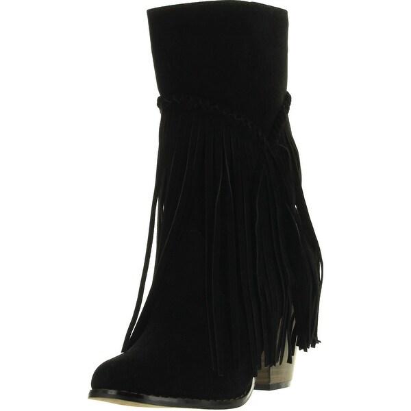 Yoki Womens Wyoming05 Fashion Boots With Layered Fringe
