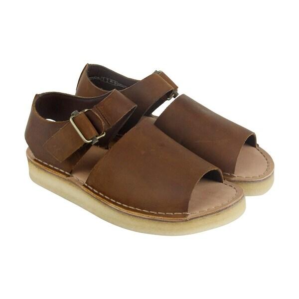 Clarks Trek Strap Mens Brown Leather Flip Flops Slip On Sandals Shoes
