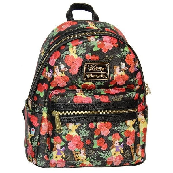 80df08a046a Shop Loungefly X Disney Belle Roses AOP Mini Backpack - Free ...