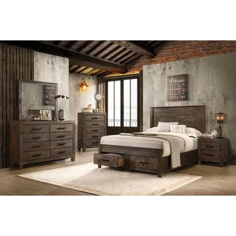 Carbon Loft Tarquin Woodmont Rustic Golden Brown Platform Bedroom Set