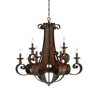 """Craftmade 28029 Seville Two Tier 9-Light Candle Style Chandelier - 36"""" Wide - spanish bronze - n/a"""