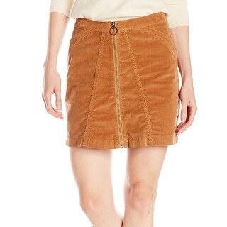 Buffalo David Bitton NEW Brown Women's Size 28 High-Rise A-Line Skirt
