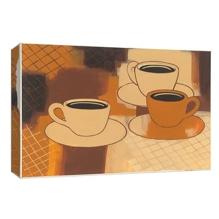 "PTM Images 9-153802  PTM Canvas Collection 8"" x 10"" - ""Coffee at the Diner"" Giclee Coffee, Tea & Espresso Art Print on Canvas"