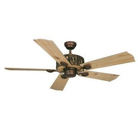 """Vaxcel Lighting FN52265 Log Cabin 52"""" 5 Blade Indoor Ceiling Fan - Blades Included - weathered patina"""