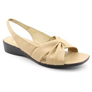 Life Stride Mimosa Women W Open-Toe Synthetic Tan Slingback Sandal
