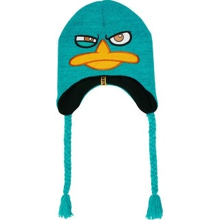 Phineas and Ferb Perry Agent P Peruvian Laplander Knit Beanie Cap (black lining)