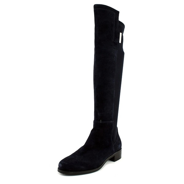 41ad4557874 Shop Vince Camuto Catt Women Round Toe Suede Blue Knee High Boot ...