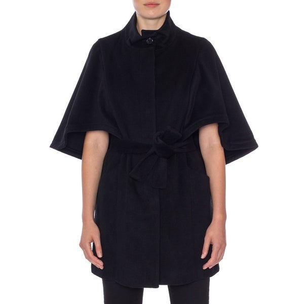 Hilary Radley Solid Fly Front Cape