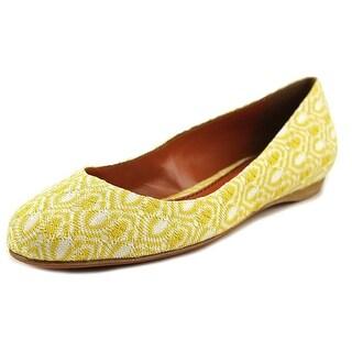 Missoni Raschel Women Square Toe Canvas Yellow Flats