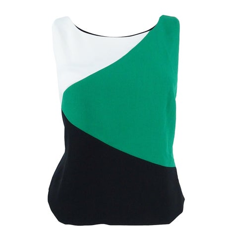 Kasper Women's Stretch-Crepe Colorblocked Top