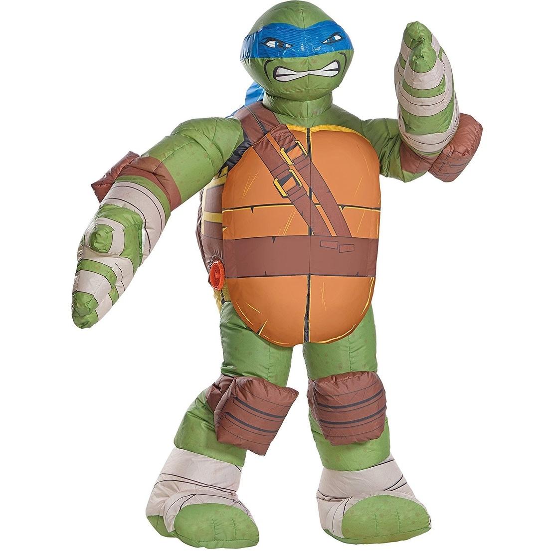 Shop Teenage Mutant Ninja Turtles Leonardo Inflatable Child Costume Green Overstock 18421273