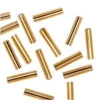 22K Gold Plated Liquid Tube Beads 6mm x 1.5mm (50)