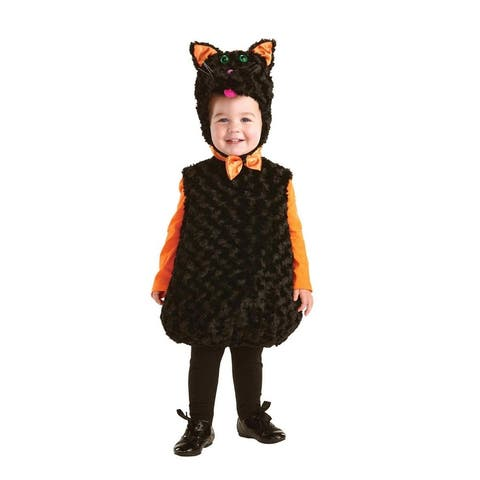 Belly Babies Black Cat Costume Child Toddler