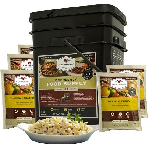 Wise prepared meals 01-120 wise entree only kit 120 serving black bucket!