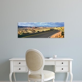 Easy Art Prints Panoramic Images's 'Winding road passing through Valley of Fire State Park, Nevada, USA' Canvas Art